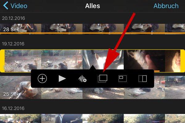 Bild und Ton von zwei unterschiedlichen Clips verwenden