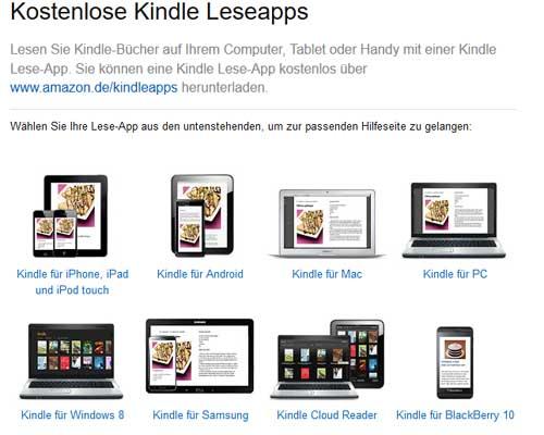 Kostenlose Kindle Leseapps